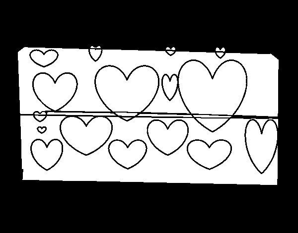 Corações Desenhos Para Colorir Colorir: Desenho De Corações Brilhantes Para Colorir