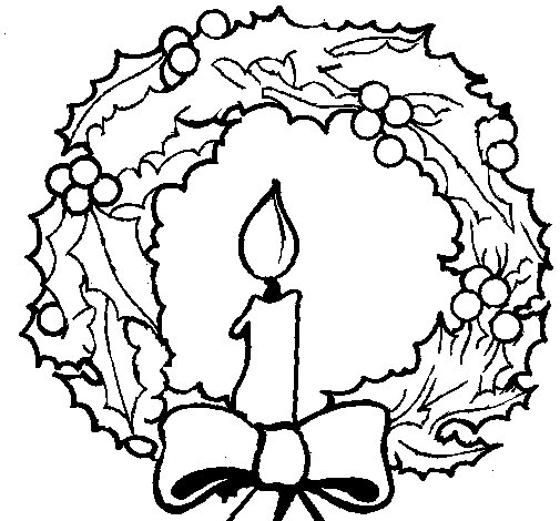 Coroa De Natal E Uma Vela on clip on candle christmas lights html