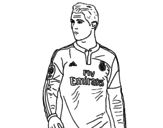 Desenho de Cristiano Ronaldo para colorear