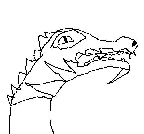 Desenho de Crocodilo para Colorir
