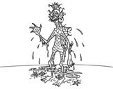 Desenho de Dagon para colorear