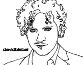 Desenho de David Bisbal primeiro plano para colorear