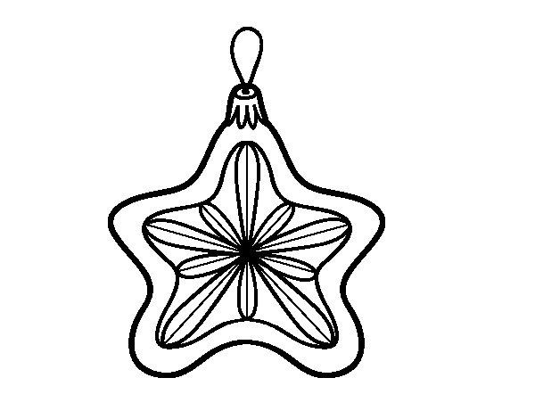 Desenho de Decoração de Natal estrela para Colorir
