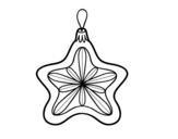 Desenho de Decoração de Natal estrela para colorear