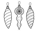 Desenho de Decorações de Natal árvore de Natal para colorear