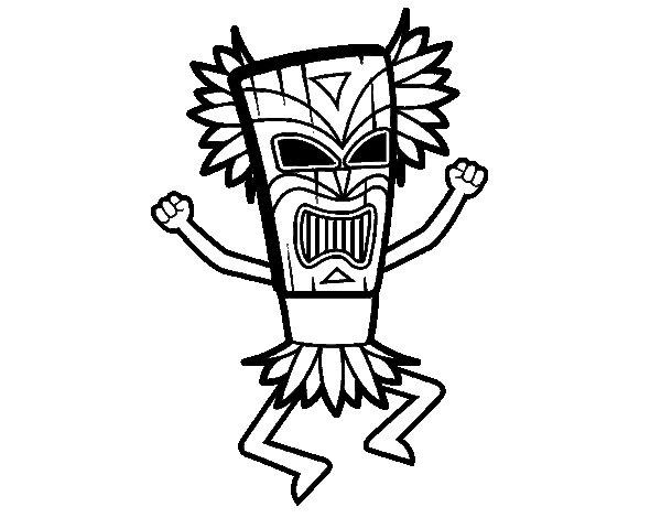 Desenho de Deus maia para Colorir