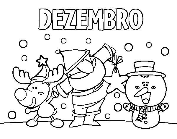 Desenho de Dezembro para Colorir
