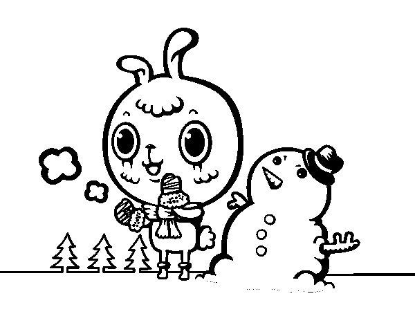 Desenho de Dia nevoso para Colorir