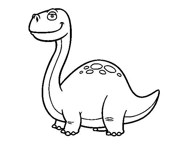 Desenho de Dinossauro Diplodoco para Colorir