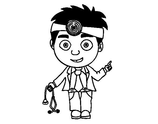 Desenho de Doutor para Colorir