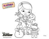 Desenho de Doutora Brinquedos e seus amigos para colorear