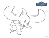 Desenho de Dumbo para colorear