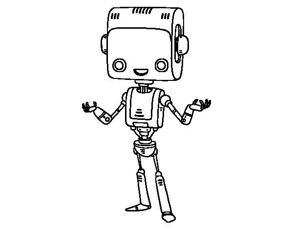 Desenho de El robô inteligente para Colorir