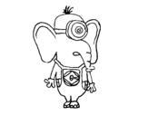 Desenho de Elefante Minion para colorear