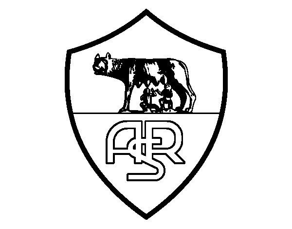 Desenho de Emblema do AS Roma para Colorir