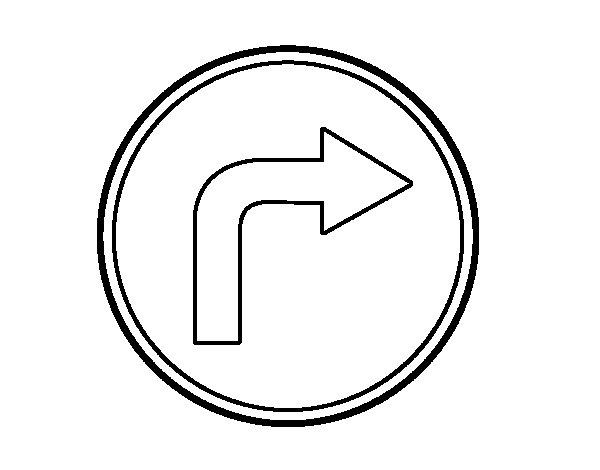 Desenho de Endereço obrigatória para a direita para Colorir