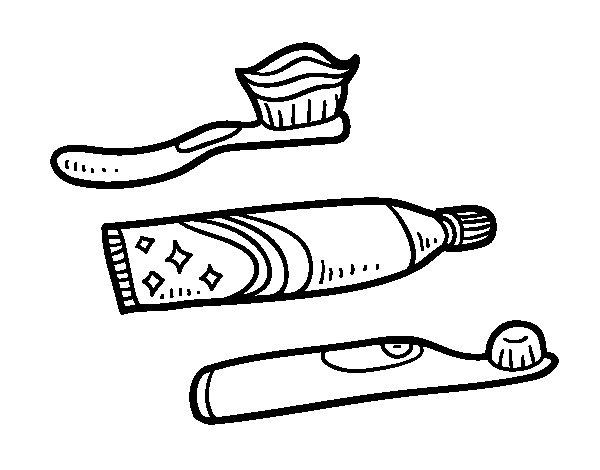 Desenho de Escovas de dentes para Colorir