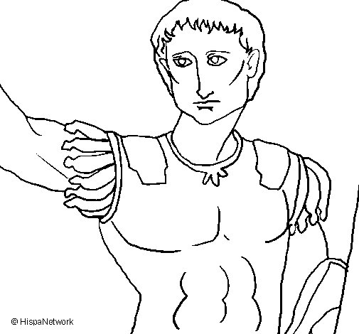 Desenho de Escultura de César para Colorir