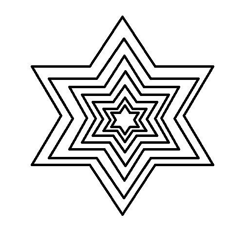Desenho de Estrela 2 para Colorir