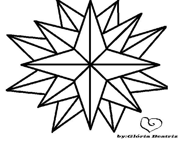 Desenho De Estrela Brilhante Para Colorir