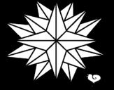 Desenho de Estrela brilhante para colorear