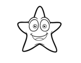 Desenho de Estrela do mar sorridente para colorear