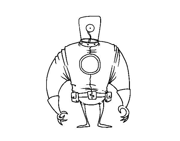 Desenho de Extraterrestre corpulento para Colorir
