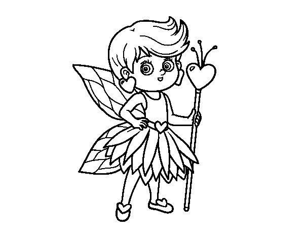 Desenho de Fadas da princesa dos corações para Colorir