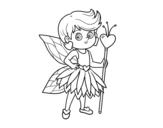 Desenho de Fadas da princesa dos corações para colorear