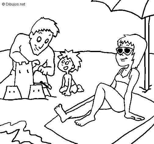 desenho de fam u00edlia f u00e9rias para colorir