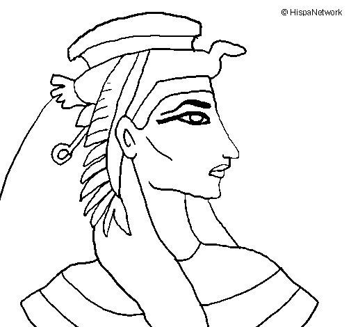 Desenho de Faraó para Colorir