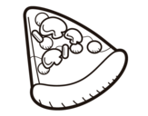 Desenho de Fatia de pizza para colorear