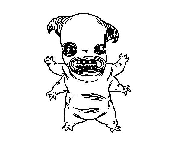 Desenho de Fauno monstro para Colorir