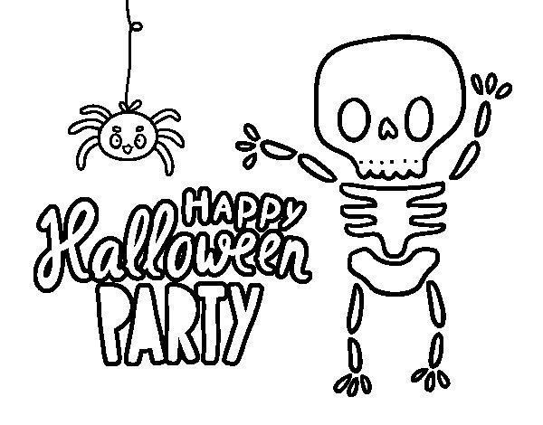 Desenho de Feliz festa do dia das bruxas para Colorir