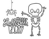 Desenho de Feliz festa do dia das bruxas para colorear