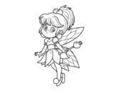 Dibujo de Floresta fada mágica