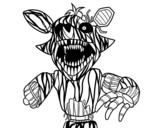 Desenho de Foxy aterrorizante de Five Nights at Freddy's para colorear