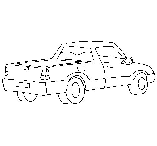 Desenho de Furgoneta III para Colorir