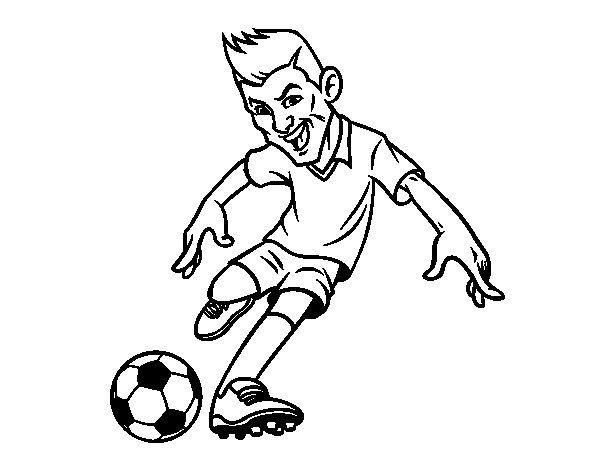 Desenho de Futebol frente para Colorir