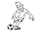 Desenho de Futebol frente para colorear