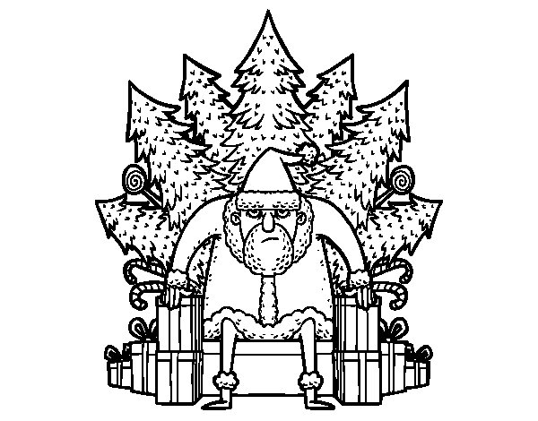 Desenho de Game of Thrones Natal para Colorir