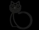 Desenho de Gato amor para colorear