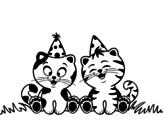 Dibujo de Gatos de aniversário