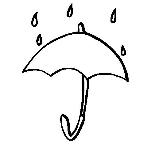 Desenho de Guarda-chuva para Colorir