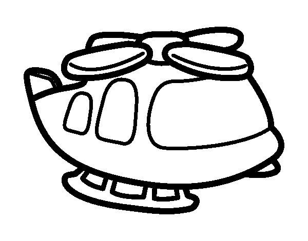 Desenho de Helicoptero grande para Colorir