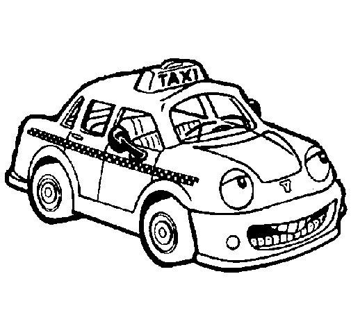 Desenho de Herbie Taxista para Colorir