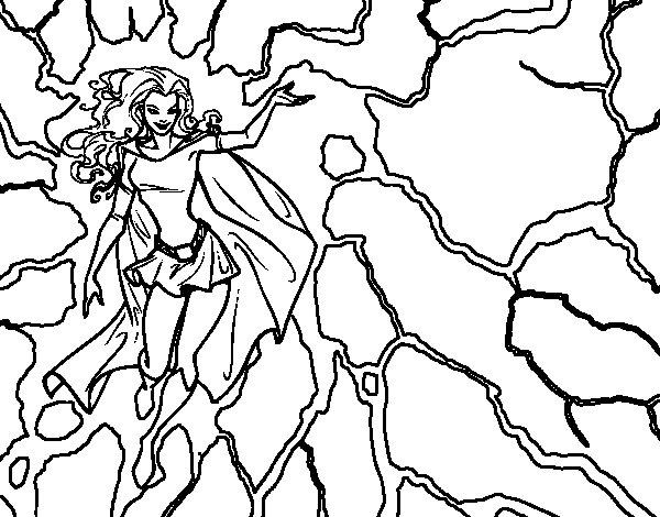 Desenho de Heroína Tempestade para Colorir