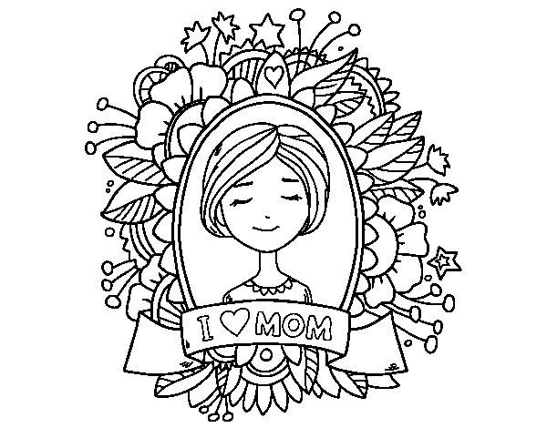 Desenho de Homenagem a todas as mães para Colorir