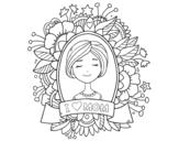 Desenho de Homenagem a todas as mães para colorear