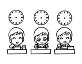 Desenho de Horários das refeições para colorear